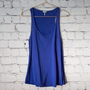 Splendid blue racerback tank top